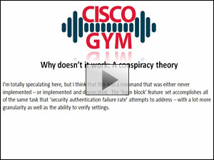 Cisco Login Failure Rate - Part 2